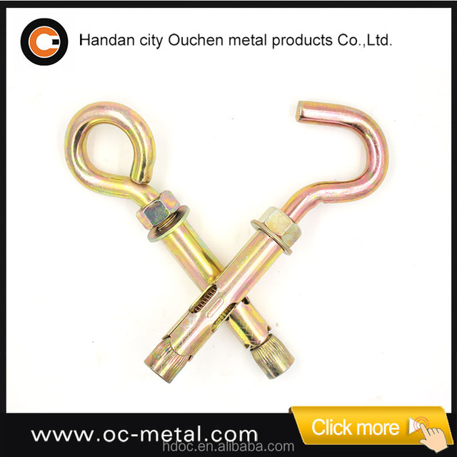 Hardware fasteners of sleeve anchor with eye bolt