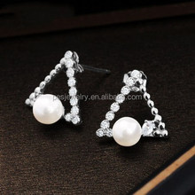 PES Fine Jewelry! Brilliant Fashion Design Triangolo Orecchini di Perle (PES9-1521)