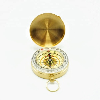 Supply high quality flip cover brass compass
