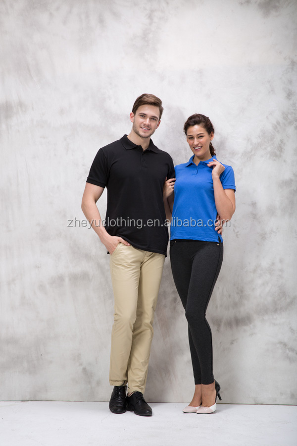 Pure color polo shirt Many existing polo garments at Ningbo/ High quality polo