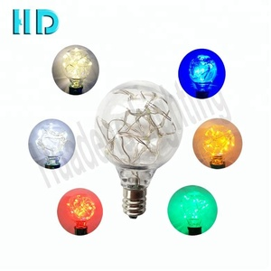 Holiday outdoor festoon string lighting G40 LED copper wire bulb