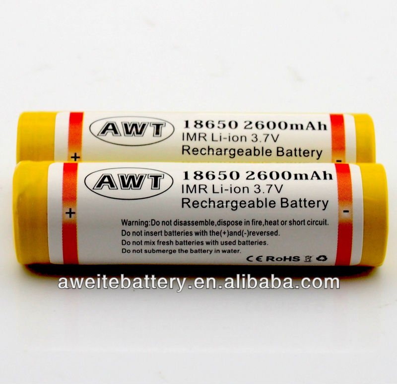 Factory directly sell 18650 2600mah 3.7v Lithium ion rechargeable AAA fb battery