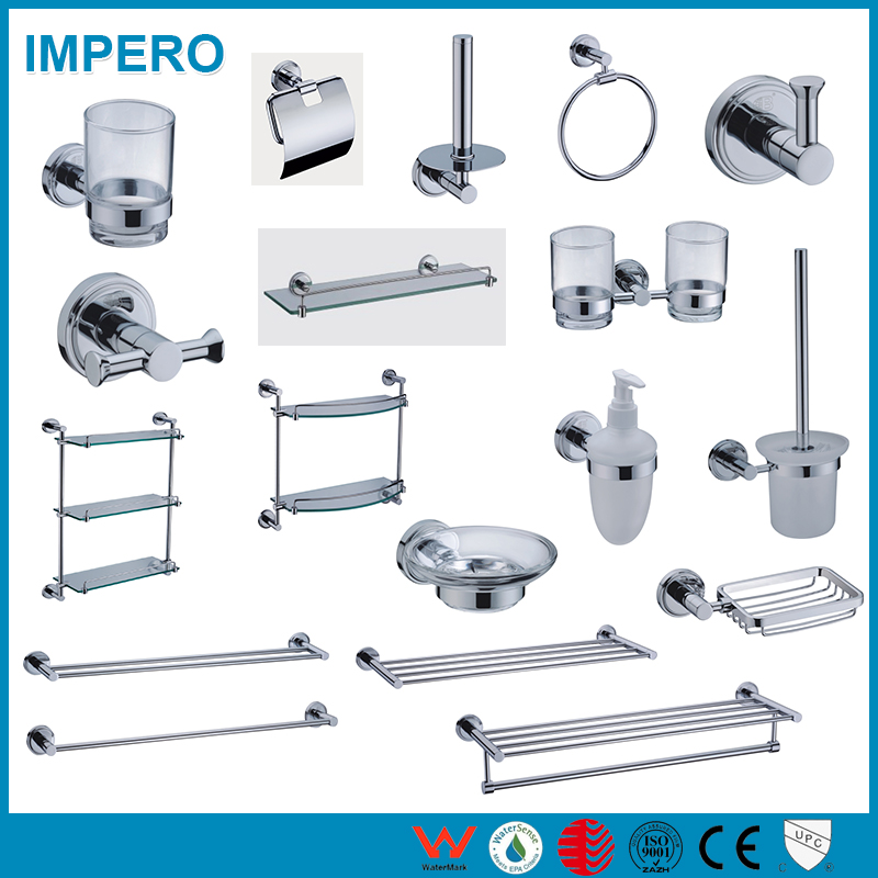 Factory supplied good price Smooth Matt Anodized Aluminum profile bathroom accessory set