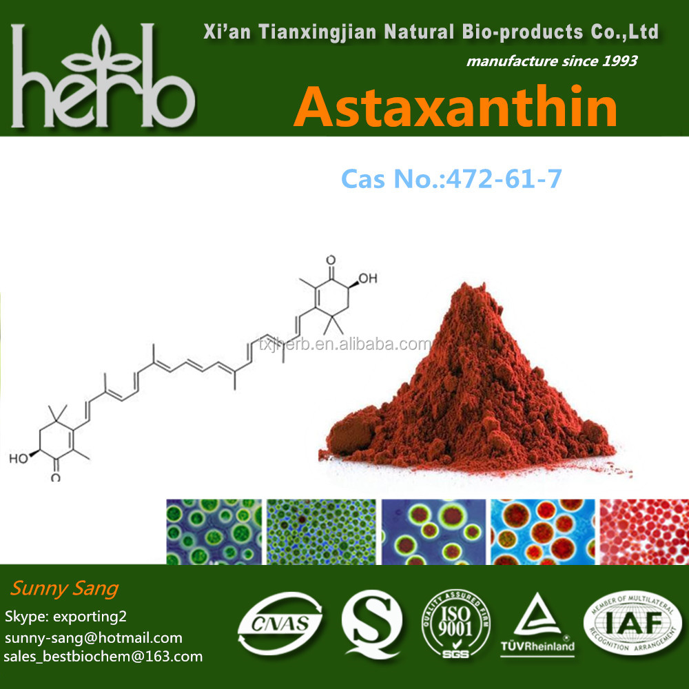 Cosmetic Ingredients organic astaxanthin supplier
