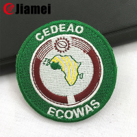 Embroidered fabric military badges and insignia