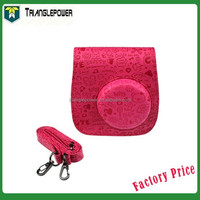 Fujifilm Instax Mini 8 Camera Cartoon Bag, PU Leather, Rose Red Camera Case