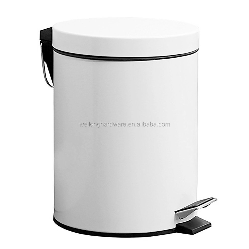 5l Stainless Steel Trash Can Step Trash And Recycling Bin For Kitchen /  Bathroom And Office - Buy Foot Pedal Garbage Bin,5 Bin Trash Can,Stainless  ...