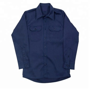 Mens uniform shirt for worker 100 cotton used uniform work shirts