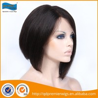 Professional dark brown wave curly brazilian virgin hair full lace wigs for women