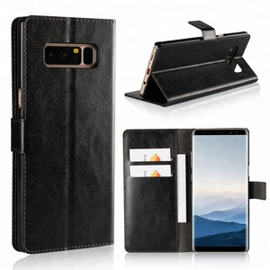 Mobile Phone Accessories Retro Crazy Leather Wallet Case For Samsung Galaxy Note II 2 3 N7100 N9300 Note 4 5 8 9 Cover