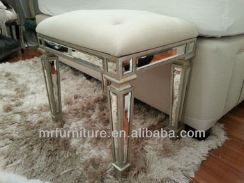 Awesome MR 401052 Mirrored Bedroom Stool, Bench Chair