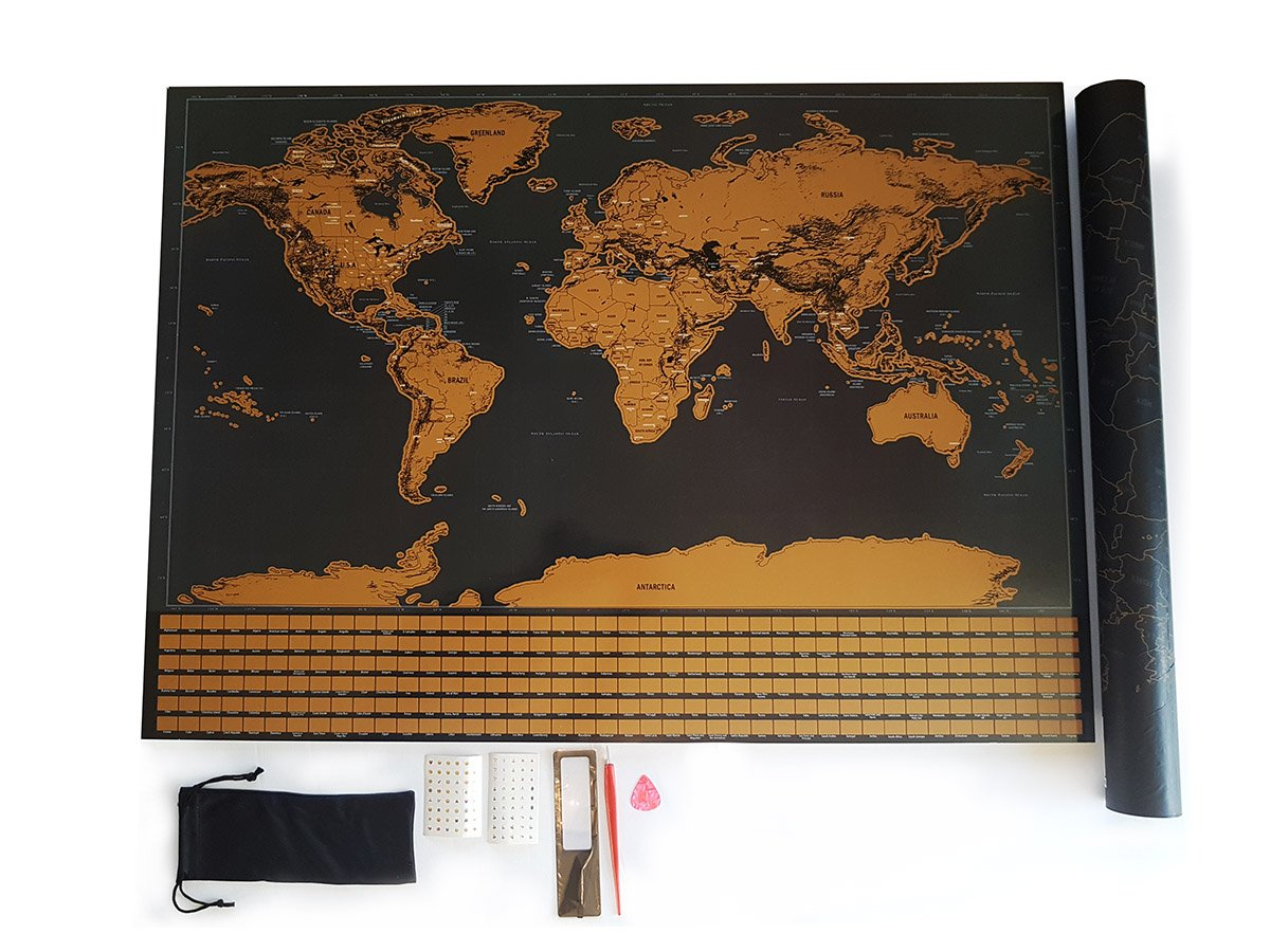 """WORLD SCRATCH MAP 
