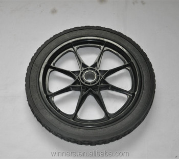 Horse Carriage Garden Cart Plastic Solid Rubber Wheels 16inch