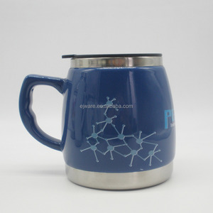 Stainless steel unglazed ceramic mug thermochromic ceramic mug big capacity ceramic mug