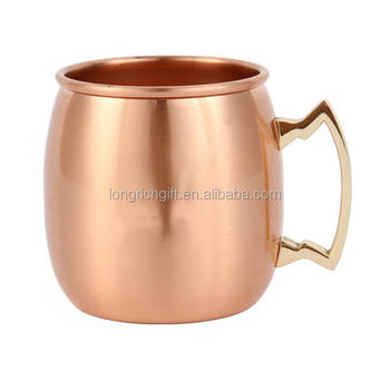 trade assurance 500ML cooper plated stainless steel MOSCOW mule mug