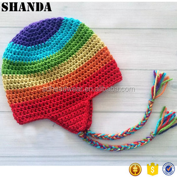 Crochet Rasta Jamaica Beanie Hat,Earflap Beanie Knitting Patterns ...