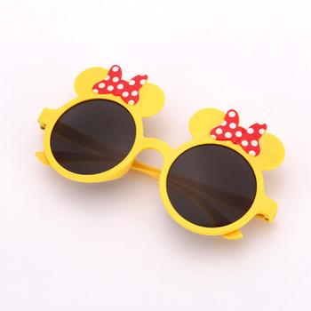 88be5f0c89256 Fonte Do Partido Do Produto promoção Óptica óculos de Sol Engraçados  Bonitos Minnie Mouse Rodada Amarelo