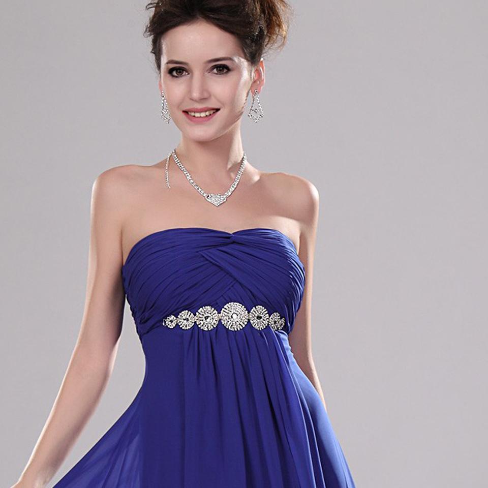 0ff73dba5 Que accesorios usar con un vestido strapless azul - Vestidos formales