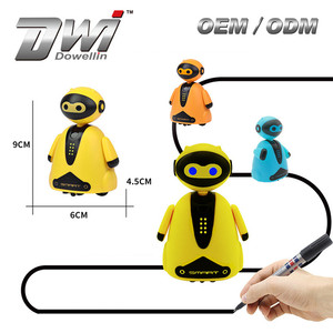 DWI Dowellin Line Track Mini Robot Electronic Inductive Toy Robot for Kids