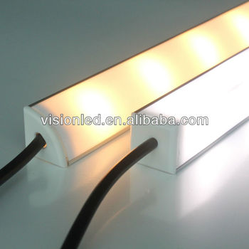 triangle aluminum led strip housing with diffuser cover. Black Bedroom Furniture Sets. Home Design Ideas