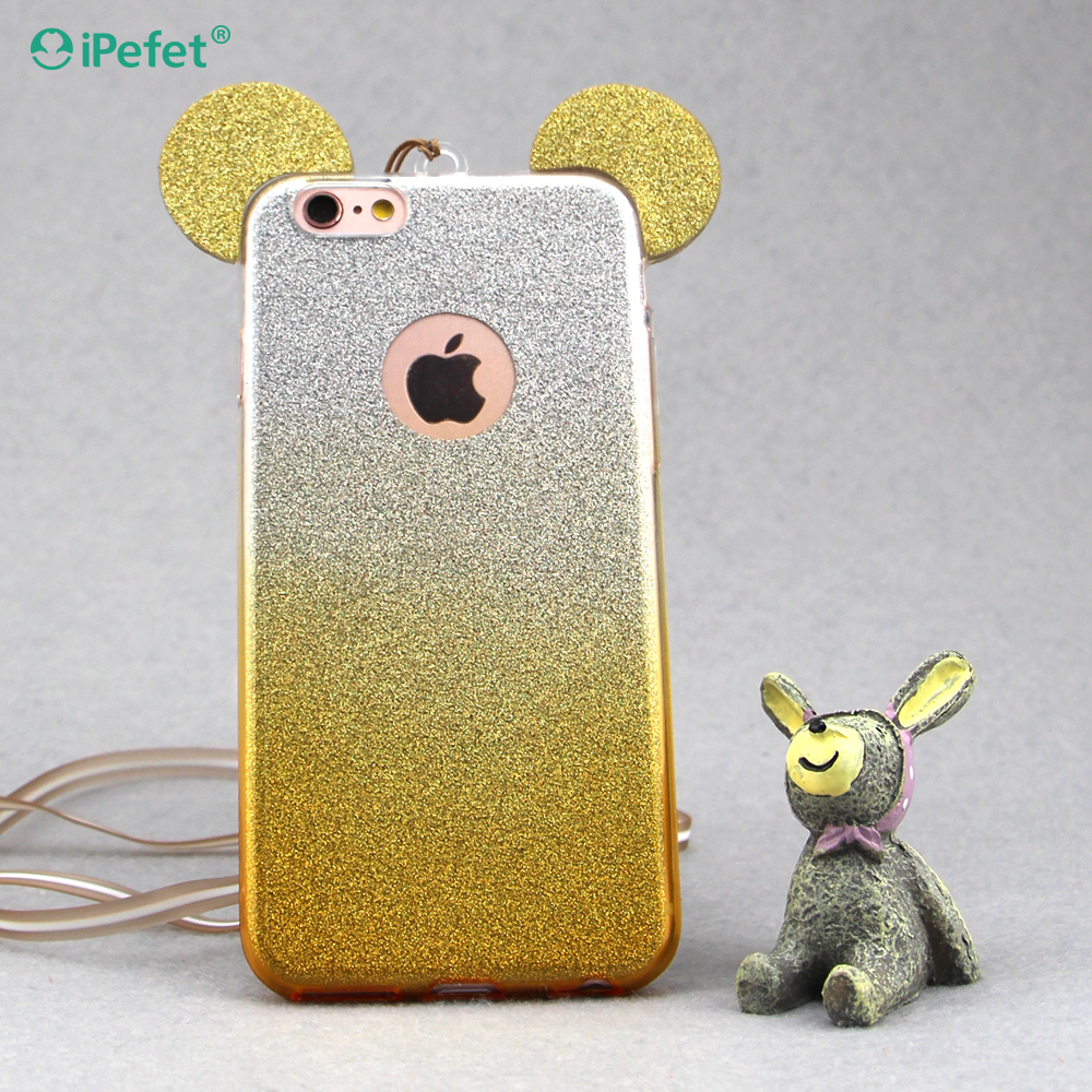 <strong>Accessories</strong> phone Slim Bling glitter Cute Rabbit cell phone case cover for iPhone 6/6s