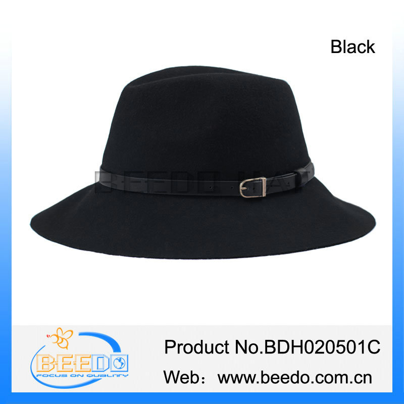 Ladies fedora floppy large size hats manufacturer fedora womens wool