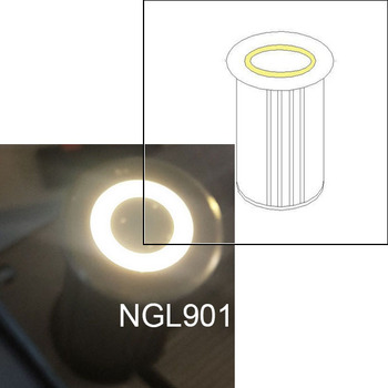Stainless Steel Ip65 Round Recessed Buried Led Ring Lighting Leeds Factory