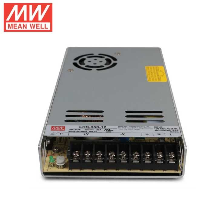 Factory direct sale LRS-350 single output 350W switching power supply original Mean Well LRS-350-12