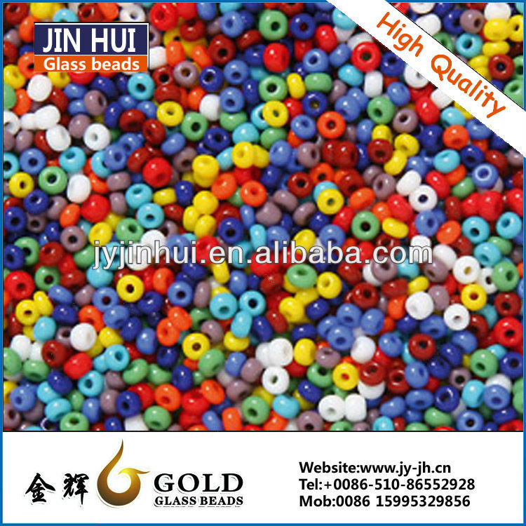 high quality JIN HUI 12/0 Qpaque accessories Czech style colorful glass bead