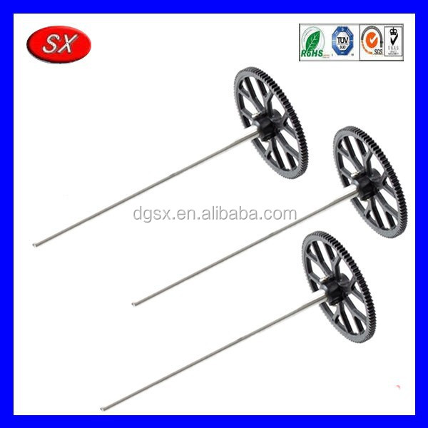 customized steel shaft and gear for toy car wheels aluminum shaft sets for toy boat parts made in dongguan
