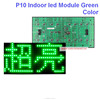 p10 one color outdoor green panel,water proof,quality a 320*160 32*16 hub12 monochrome outdoor p10 led sign module