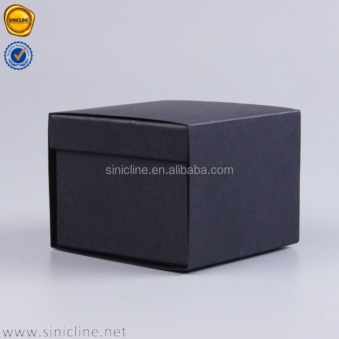 Sinicline silver foiled logo black box packaging paper gift