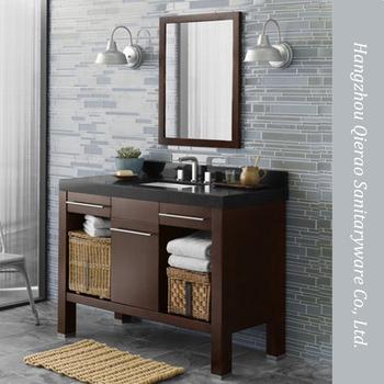 Modern 42 Inch Marble Top Walnut Brown