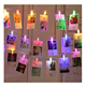 LED Fairy String Lights with Clips for Photos - Battery Operated Warm White Lights - Bedroom Indoor and Outdoor Decoration