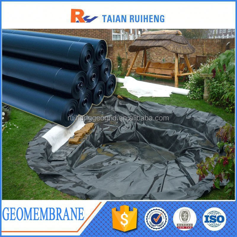 Tang poissons tanche doublure pehd g omembrane b che for Bache geomembrane