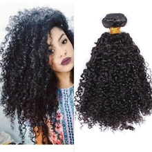 28 inch brazilian afro kinky human hair bundles with closure