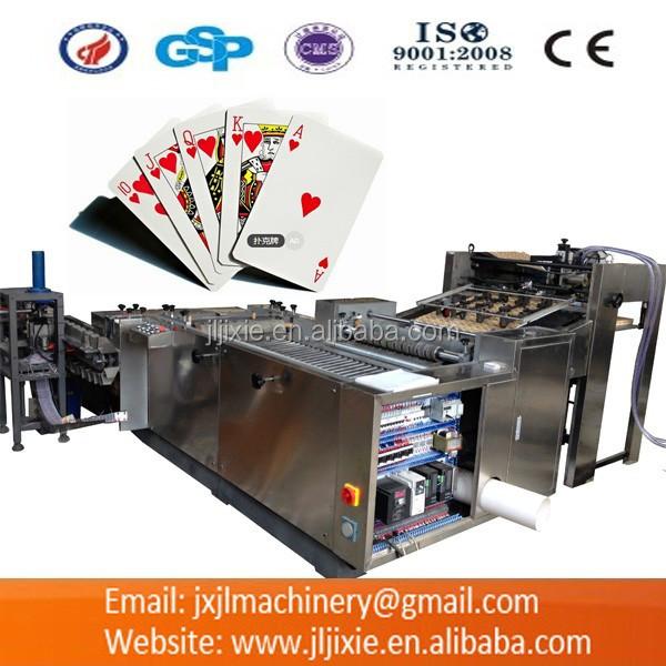 pk54 55 playing cards making machine buy playing card slitting machinepaper slitting and collating machinepoker cards making machine product on alibaba - Card Making Machine