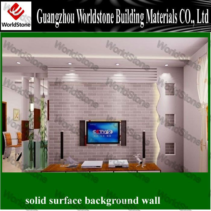 2012 WS-BGW005 New design customize TV background wall