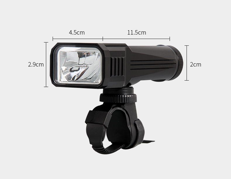 2018 New German standard USB rechargeable led mountain bike front flashlight torch light