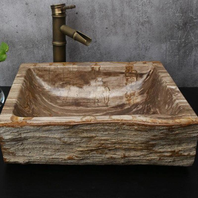 Genial Rectangular Petrified Wood Sinks Stone Basin Washing Bowl Fossil Wood Sink    Buy Washing Bowl Natural Stone,Fossil Wood Sink,Petrified Wood Sinks ...