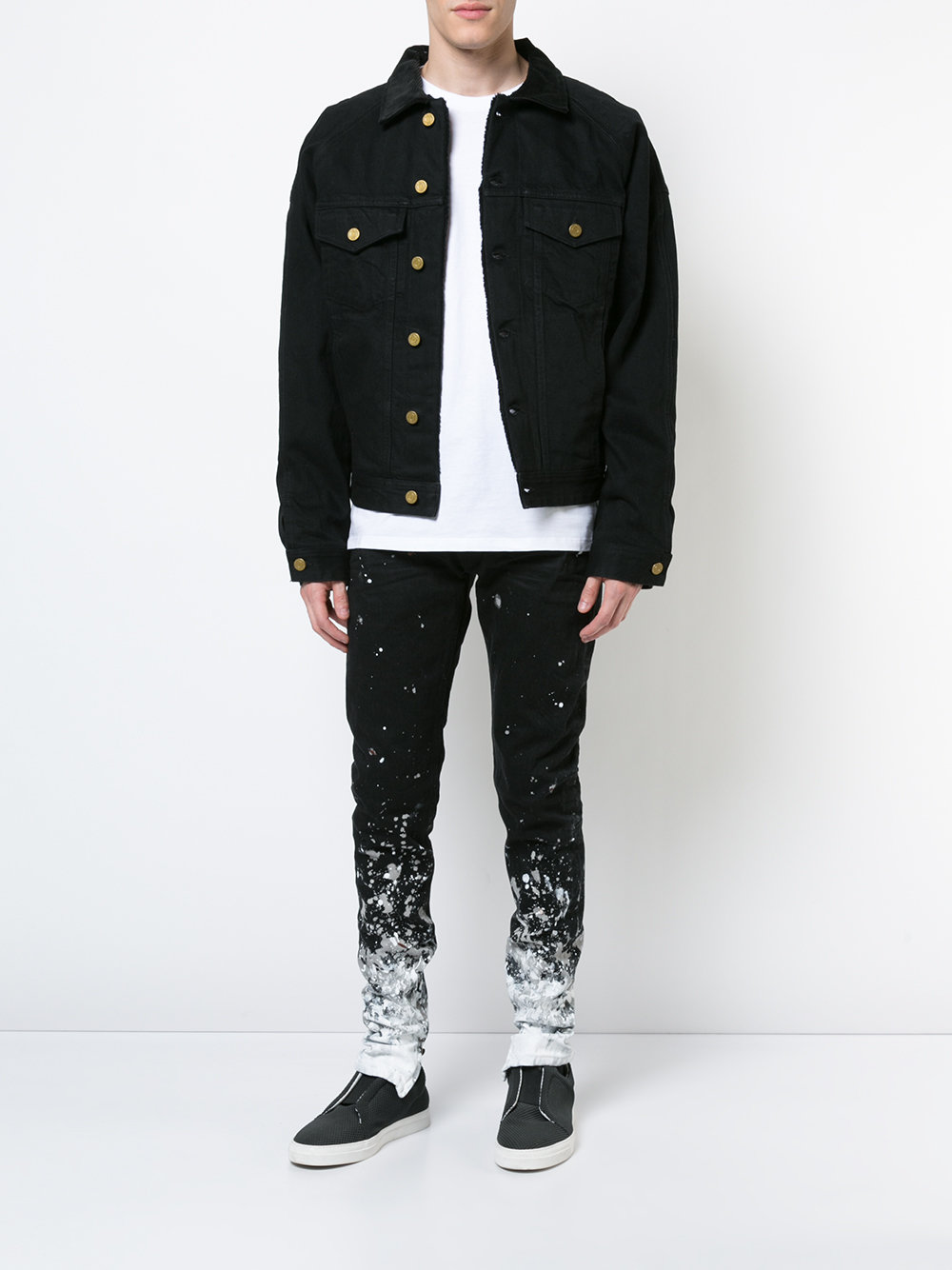 OEM superior quality own design black jeans jacket