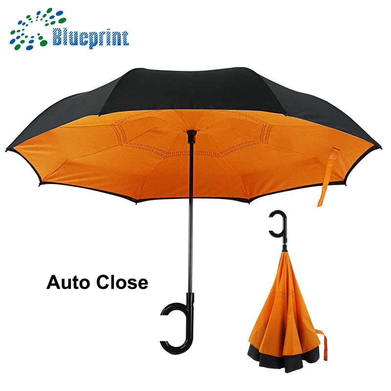 new reverse upside-down logo customize inverted inside out umbrella
