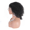 Full end Indian Remy 4A curly transparent lace Double Drawn raw virgin full lace wig