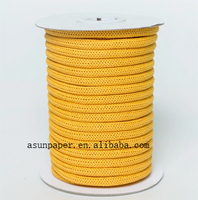 100% paper material FSC knitted paper rope paper cord for shopping bag