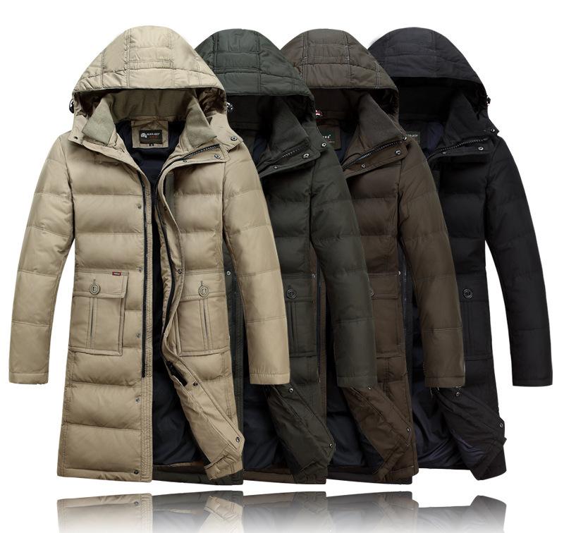 Quality Goods Down Jacket Winter Coat Men Parkas Hooded