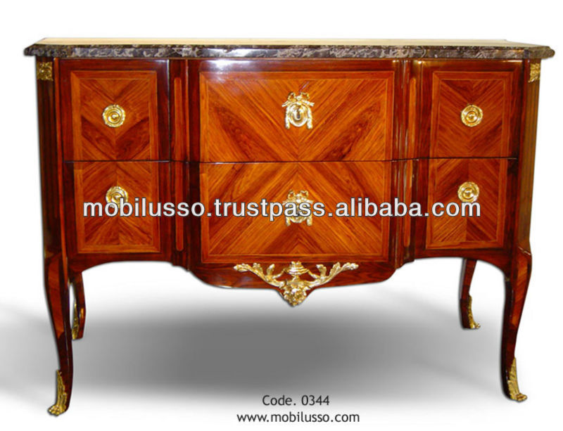 French Antique Commode Louis Xv Chest Drawers Reproduction Antique