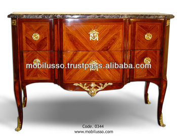 French Antique Commode, Louis Xv Chest Drawers, Reproduction Antique  Commode Cabinet