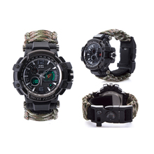 Groothandel outdoor survival sport <span class=keywords><strong>horloge</strong></span> multi-functionele waterdichte 50 M <span class=keywords><strong>paracord</strong></span> armband <span class=keywords><strong>horloge</strong></span>