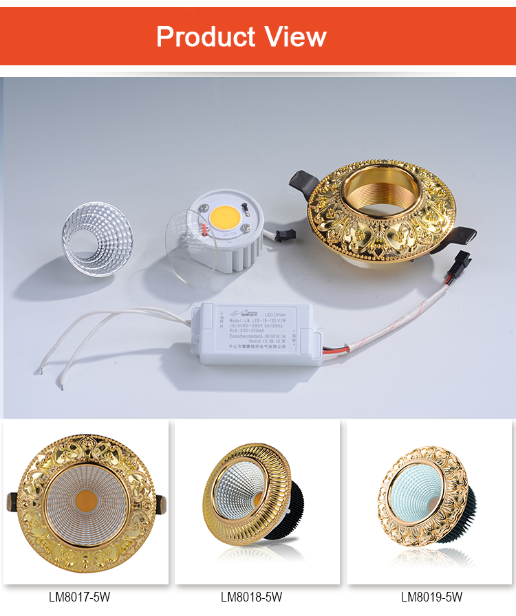 gold colored led spotlights cheap price recessed for wholesale-2