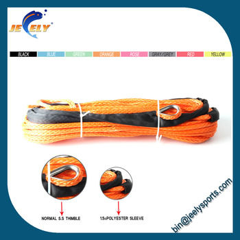 UHMWPE synthetic winch cable offroad